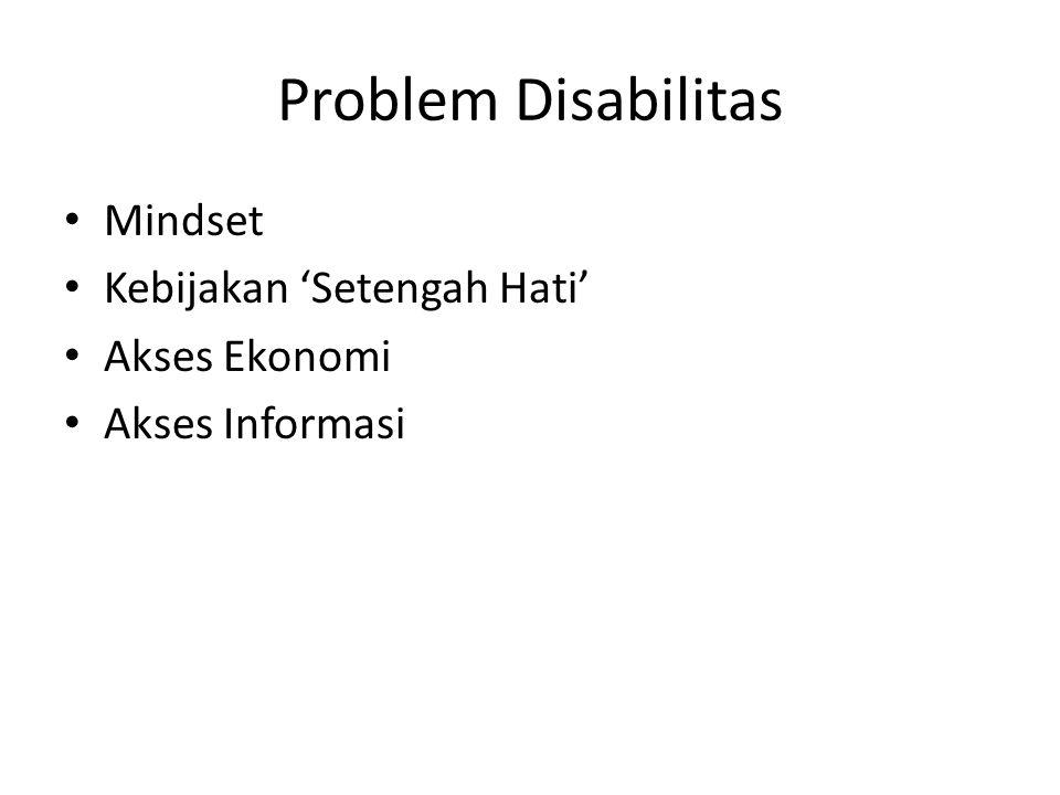 Problem Disabilitas Mindset Kebijakan 'Setengah Hati' Akses Ekonomi Akses Informasi