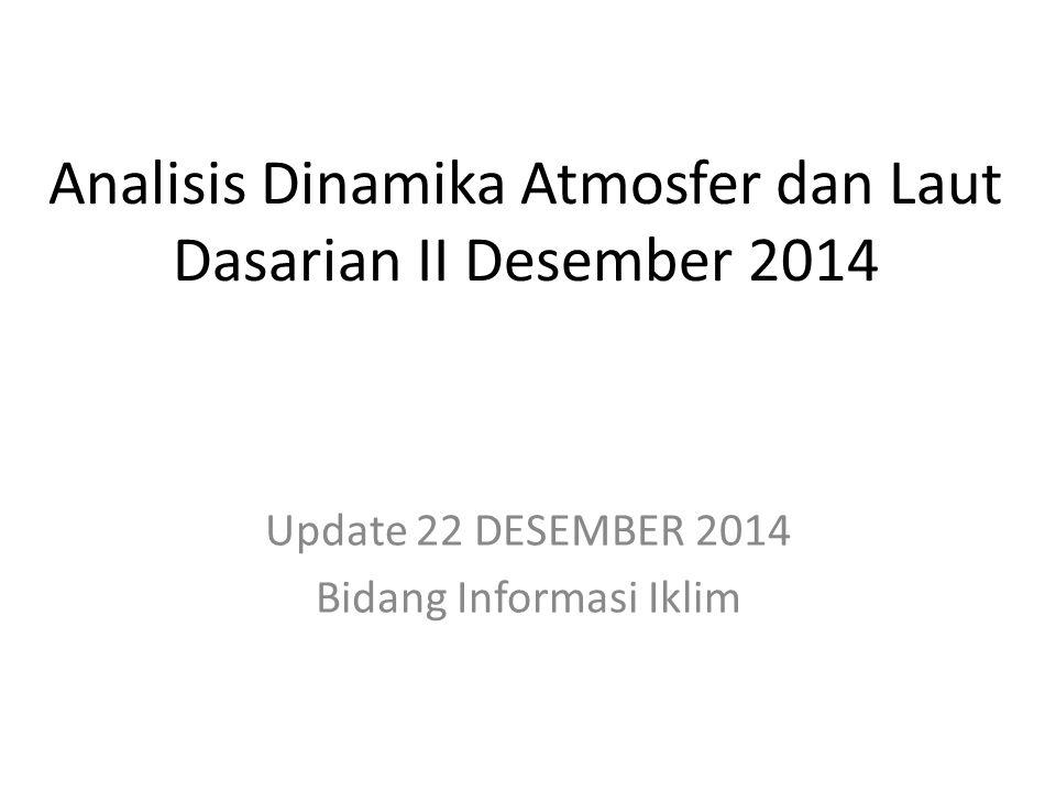 OUTLINE Kondisi Umum Analisis Dinamika Atmosfer dan Laut Dasarian II Desember 2014 Prakiraan Dinamika Atmosfer dan Laut Desember 2014 s.d.