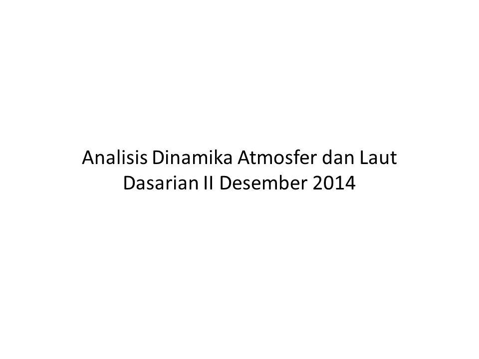 ANALISIS ANGIN LAP 850mb Aliran massa udara di seluruh wilayah Indonesia relatif sama dengan klimatologinya.