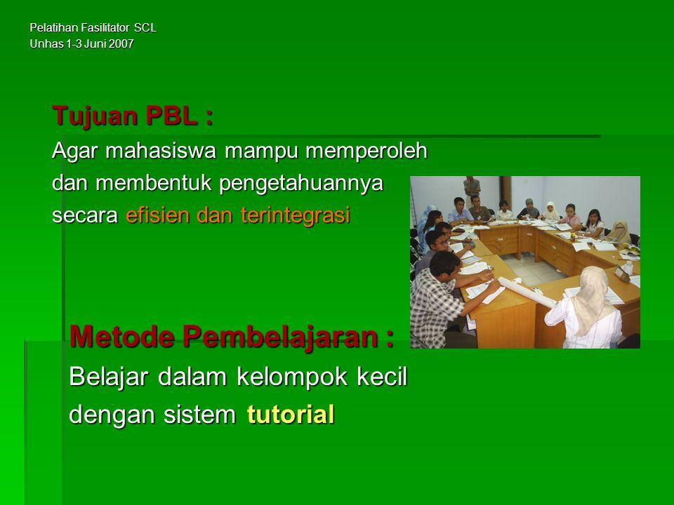 Pertemuan III : Diskusi tutorial dipimpin oleh mahasiswa yang terpilih menjadi ketua dan penulis kelompok, serta difasilitasi oleh tutor.