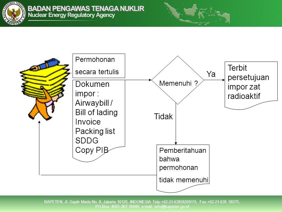 Tata Cara PermohonanTata Cara Permohonan Permohonan secara tertulis Dokumen impor : Airwaybill / Bill of lading Invoice Packing list SDDG Copy PIB Memenuhi .