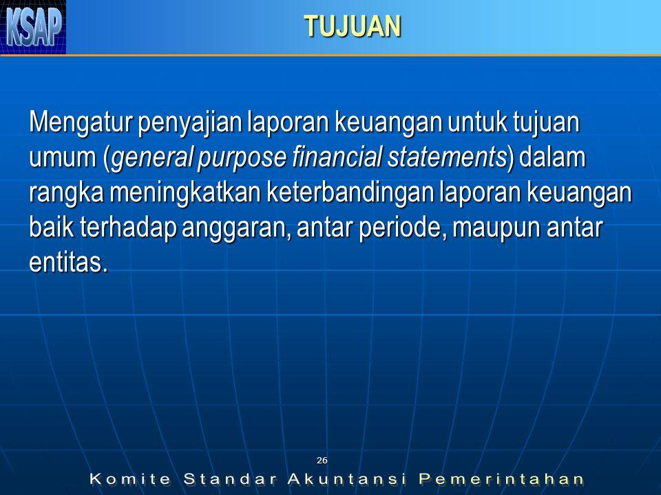 25 MATERI Tujuan Pernyataan Tujuan Pernyataan Tujuan Laporan Keuangan Tujuan Laporan Keuangan Tanggung jawab Pelaporan Keuangan Tanggung jawab Pelapor