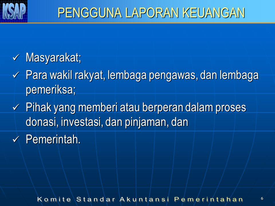 66 AKUNTANSI PENDAPATAN Dalam hal BLU, pendapatan diakui dengan mengacu pada peraturan perundang-undangan yang berlaku.
