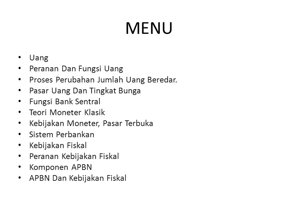 Kebijakan Fiskal dan APBN Di Indonesia, kebijakan fiskal mempunyai dua prioritas.