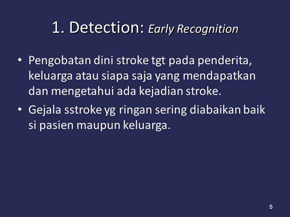 Carotid Revascularization Justification Class/Level of Evidence Patient dg TIA or stroke dlm 6 bulan dg stenosis ipsilateral carotid stenosis diantara 70-99% hrs endarterectomi endarterectomy oleh surgeon dg morbidity dan mortality < 6% Class I;Level of Evidence A patients dg TIA atau stroke dan ipsilateral stenosi 50-69%, endarterectomy dianjurkan dgmorbidity and mortality < 6% Class I; Level of evidence B Patients with a stenosis of >70% in whom surgery technically difficult or restenosis after prior CEA or radiation injury to the neck carotid angioplasty and stenting is not inferior to CEA Class IIb; Level of Evidence B CEA may be useful in high grade asymptomatic patients with carotid stenosis if performed with a morbidity and mortality of < 3% Class IIa; Level of Evidence A CAS as an alternative to CEA in asymptomatic patients is uncertain in patients with high risk for CEA Class IIb; Level of evidence C ©2011 American Heart Association, Inc.