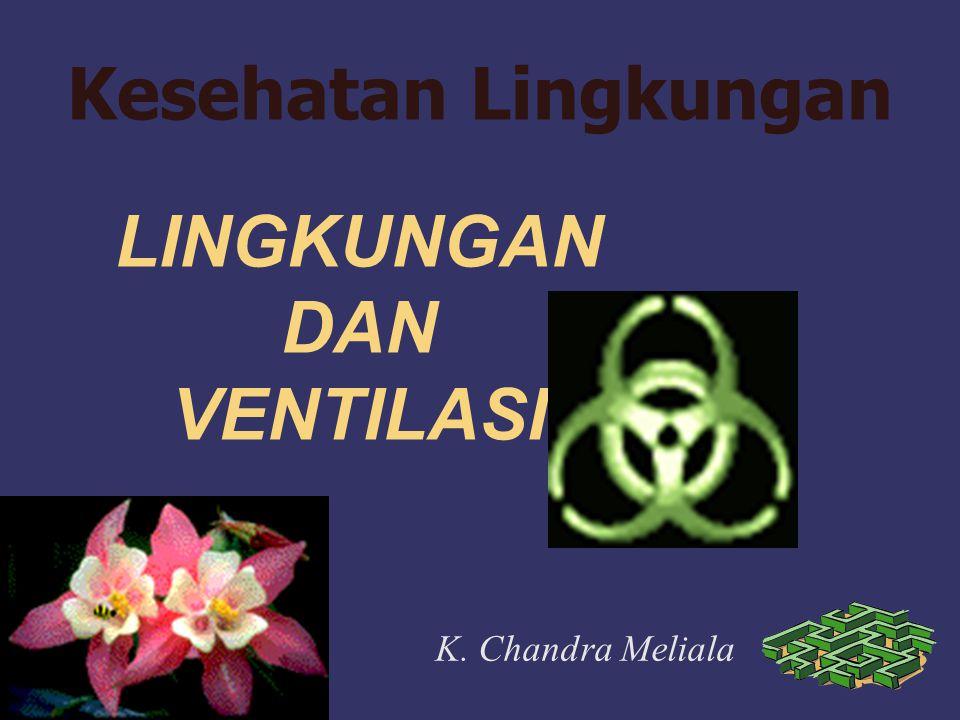LINGKUNGAN DAN VENTILASI K. Chandra Meliala Kesehatan Lingkungan