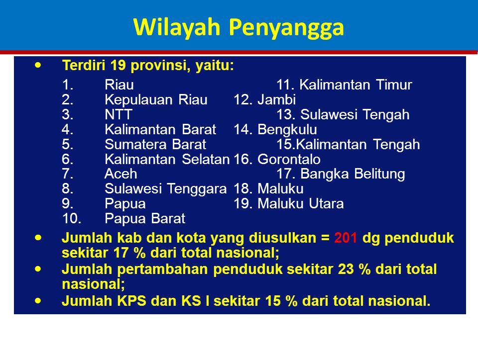 Terdiri 19 provinsi, yaitu: 1.Riau11.Kalimantan Timur 2.Kepulauan Riau12.