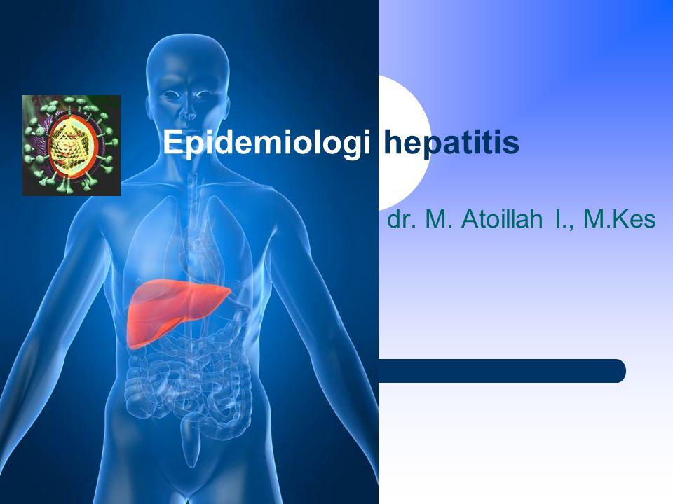 Epidemiologi hepatitis dr. M. Atoillah I., M.Kes