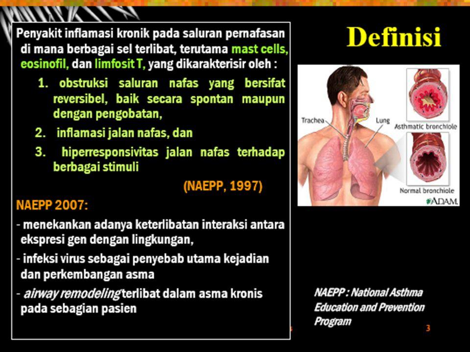 KLASIFIKASI Asma allergen/asma ekstrinsik Asma allergen/asma ekstrinsik Asma non allergen/intrinsik Asma non allergen/intrinsik