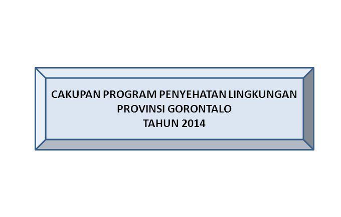CAKUPAN PROGRAM PENYEHATAN LINGKUNGAN PROVINSI GORONTALO TAHUN 2014