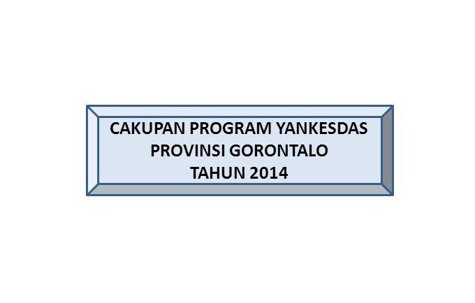 CAKUPAN PROGRAM YANKESDAS PROVINSI GORONTALO TAHUN 2014
