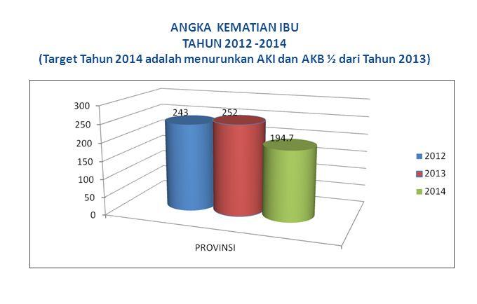 ANGKA KEMATIAN IBU TAHUN 2012 -2014 (Target Tahun 2014 adalah menurunkan AKI dan AKB ½ dari Tahun 2013)