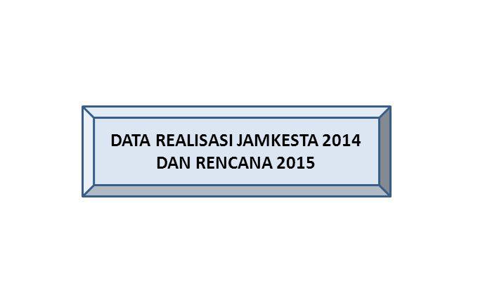 DATA REALISASI JAMKESTA 2014 DAN RENCANA 2015