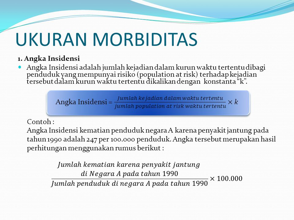 UKURAN MORBIDITAS