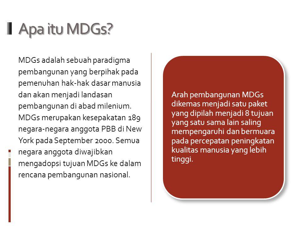 Apa itu MDGs.