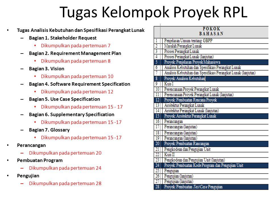 Tugas Kelompok Proyek RPL Tugas Analisis Kebutuhan dan Spesifikasi Perangkat Lunak – Bagian 1.