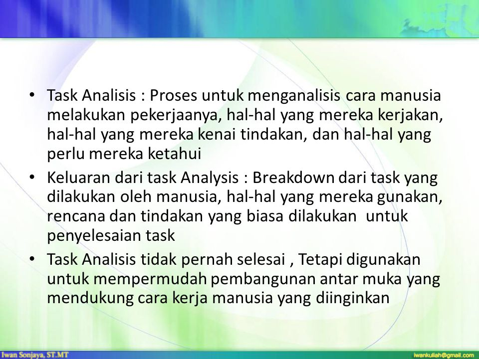 Mengapa Perlu Task Analysis.