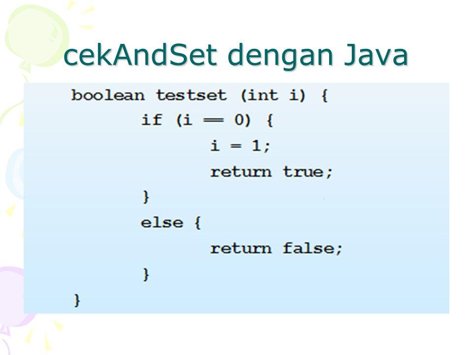 cekAndSet dengan Java
