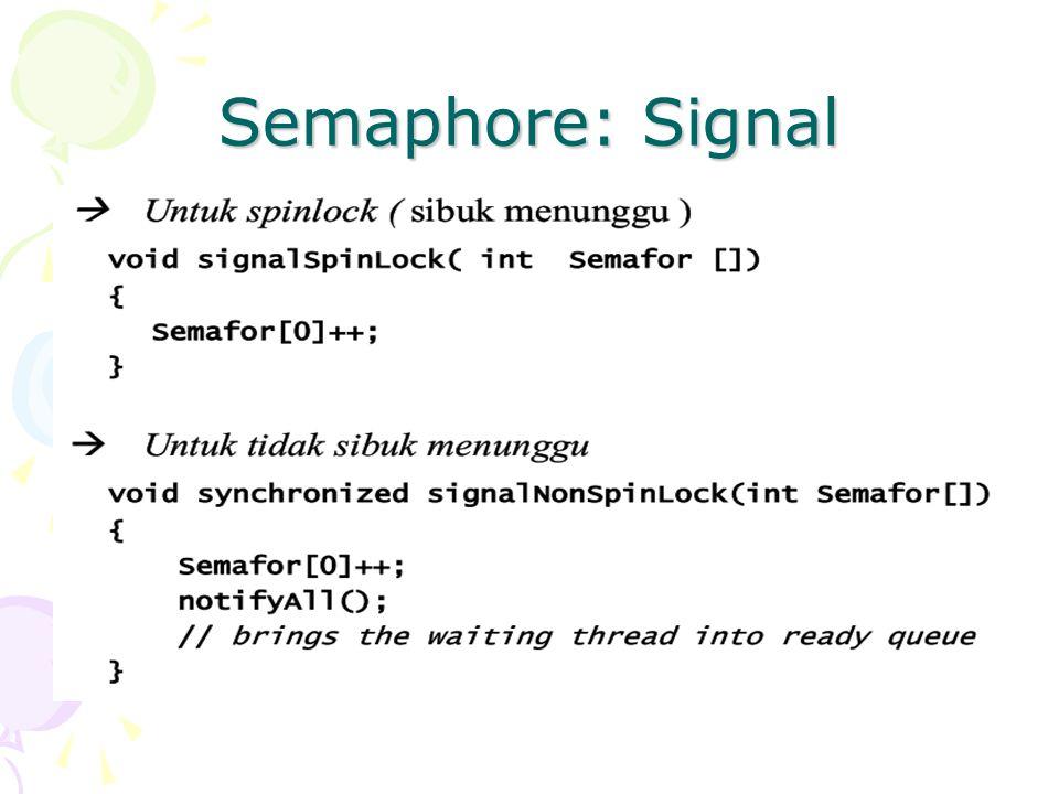 Semaphore: Signal