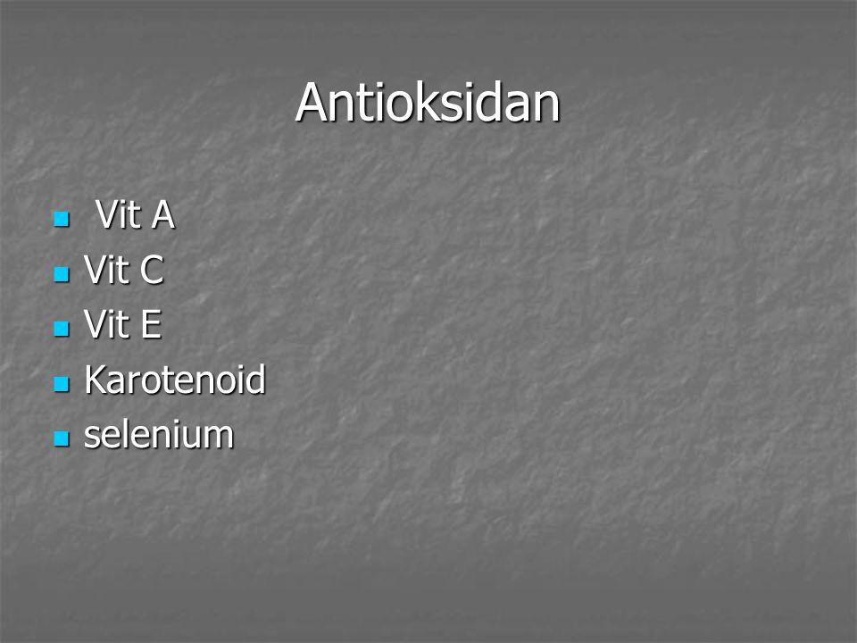 Antioksidan Vit A Vit A Vit C Vit C Vit E Vit E Karotenoid Karotenoid selenium selenium