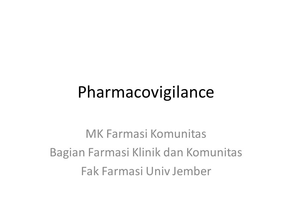 Defined by WHO, pharmacovigilance is – The science and activities relating to detection, assessment, understanding and prevention of adverse effects or any other drug-related problems.