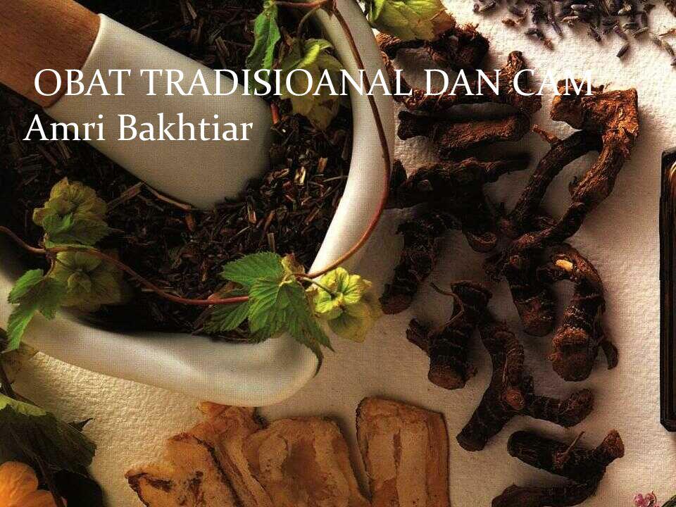Amri Bakhtiar OBAT TRADISIOANAL DAN CAM Amri Bakhtiar