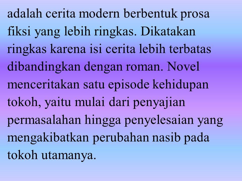 amanat pesan yang terkandung dalam novel.