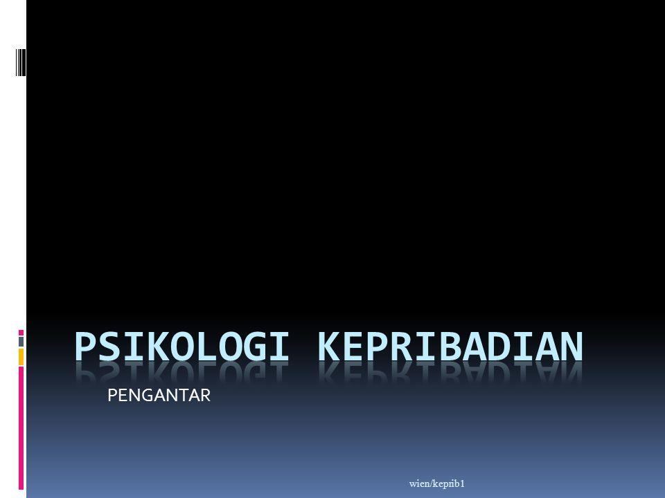 Kepribadian (Personality) Asal kata :  Persona = topeng/kedok  Biasanya dipakai oleh pemain sandiwara pd zaman kuno, utk memerankan satu bentuk TL dan karakter tertentu.