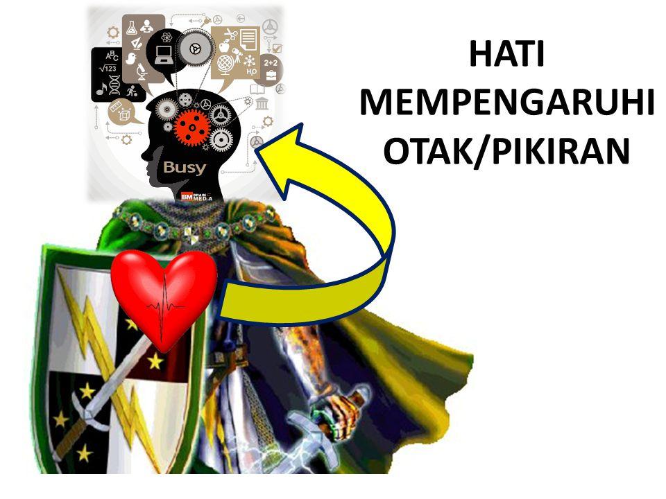 HATI MEMPENGARUHI OTAK/PIKIRAN