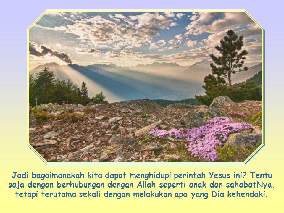 """Kasihilah Tuhan, Allahmu, dengan segenap hatimu dan dengan segenap jiwamu dan dengan segenap akal budimu"""