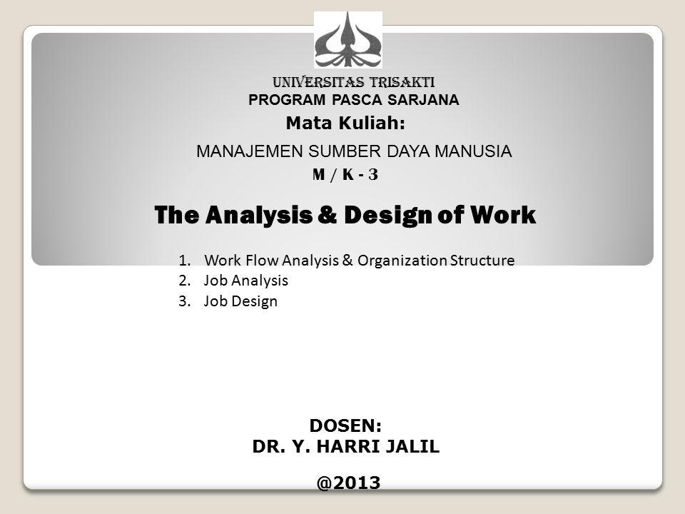 Analisa informasi pekerjaan, terdiri dari dua tipe yaitu : Job Description, berisi tentang tugas, pekerjaan dan tanggung jawab terhadap pekerjaan.