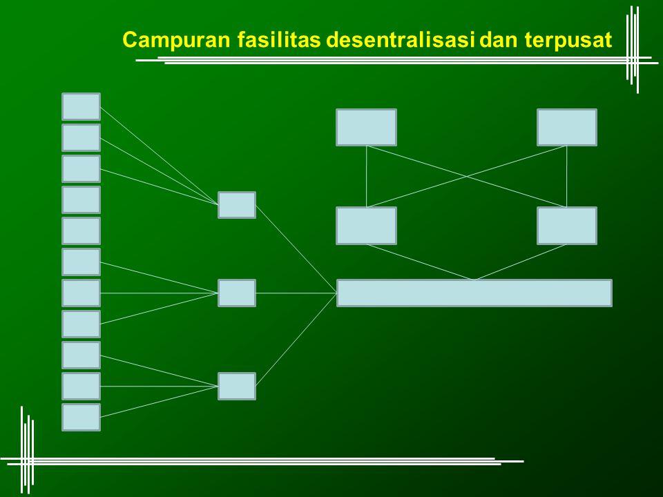 Campuran fasilitas desentralisasi dan terpusat
