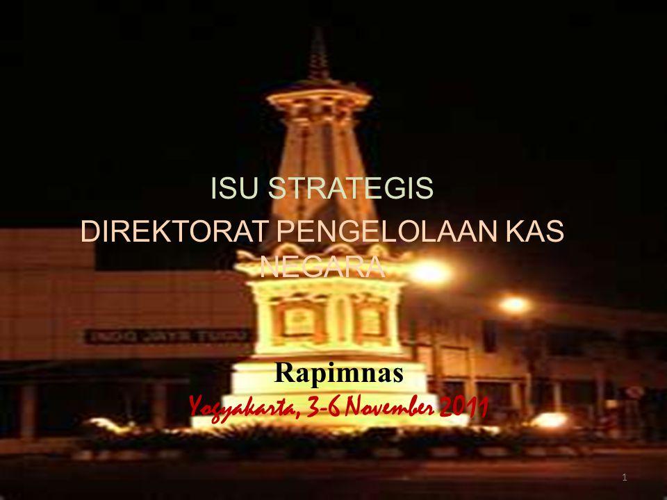 ISU STRATEGIS DIREKTORAT PENGELOLAAN KAS NEGARA Rapimnas Yogyakarta, 3-6 November 2011 1