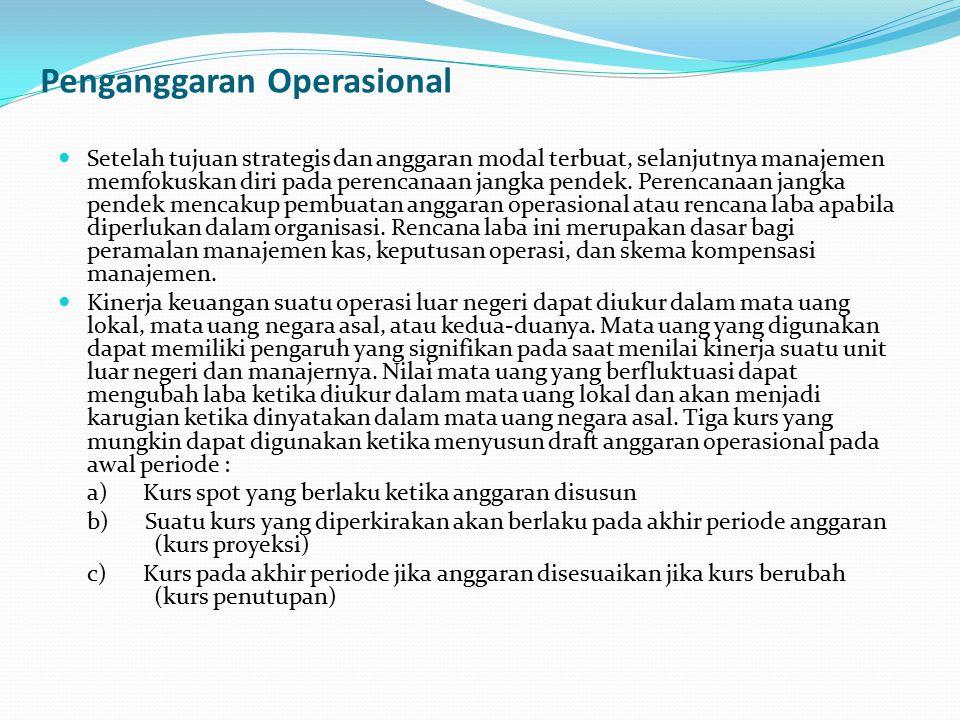 Penganggaran Operasional Setelah tujuan strategis dan anggaran modal terbuat, selanjutnya manajemen memfokuskan diri pada perencanaan jangka pendek. P