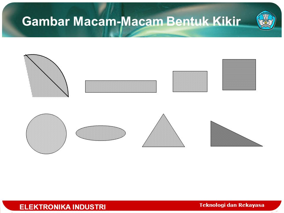Teknologi dan Rekayasa Jangka Sorong( Vernier Califfer ) Jangka sorong digunakan untuk mengukur 1.diameter luar 2.diameter dalam 3.panjang 4.kedalaman lubang Tingkat ketelitian pembacaan jangka sorong bervariasi, tergantung pada pembuatan skala noniusnya.