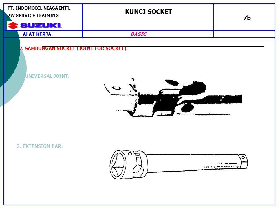 KUNCI SOCKET 7b 2.SAMBUNGAN SOCKET (JOINT FOR SOCKET).