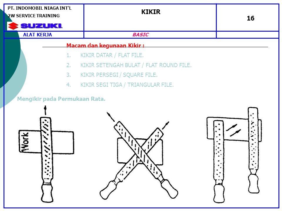 KIKIR 16 Macam dan kegunaan Kikir : 1.KIKIR DATAR / FLAT FILE.