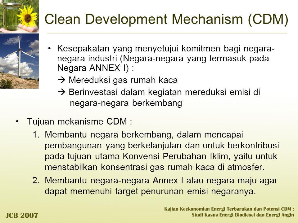 Clean Development Mechanism (CDM) Kesepakatan yang menyetujui komitmen bagi negara- negara industri (Negara-negara yang termasuk pada Negara ANNEX I)