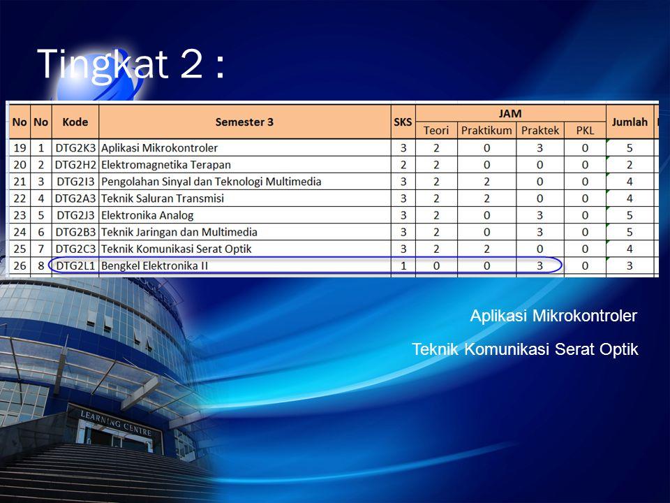Tingkat 2 : Aplikasi Mikrokontroler Teknik Komunikasi Serat Optik