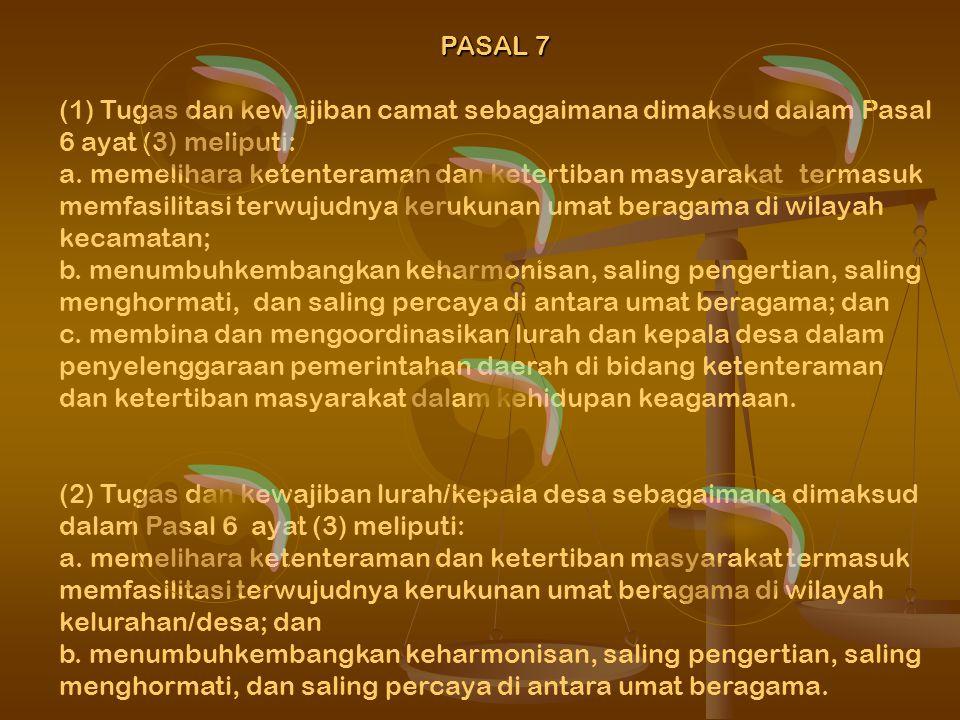 BAB II TUGAS KEPALA DAERAH DALAM PEMELIHARAAN KERUKUNAN UMAT BERAGAMA PASAL 2 Pemeliharaan kerukunan umat beragama menjadi tanggung jawabbersama umat