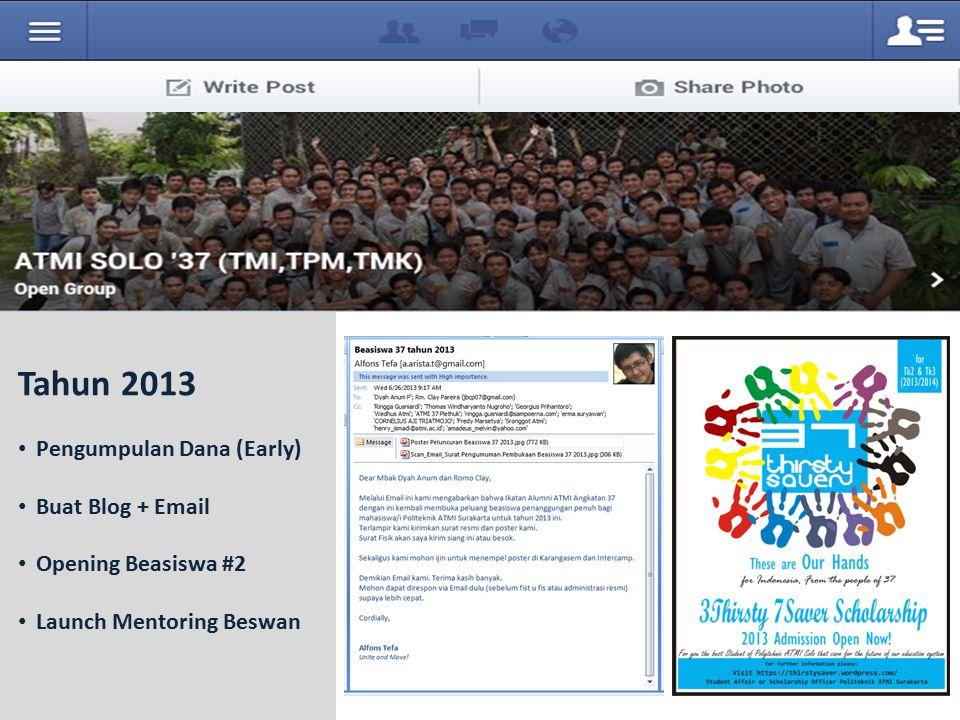 Tahun 2013 Pengumpulan Dana (Early) Buat Blog + Email Opening Beasiswa #2 Launch Mentoring Beswan