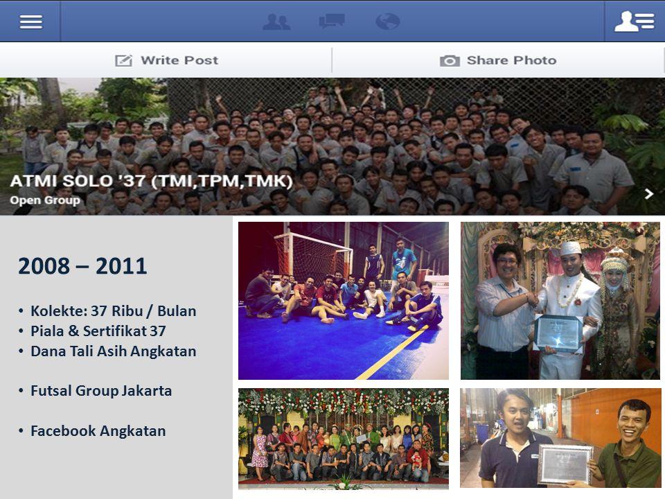 Kolekte: 37 Ribu / Bulan Piala & Sertifikat 37 Dana Tali Asih Angkatan Futsal Group Jakarta Facebook Angkatan