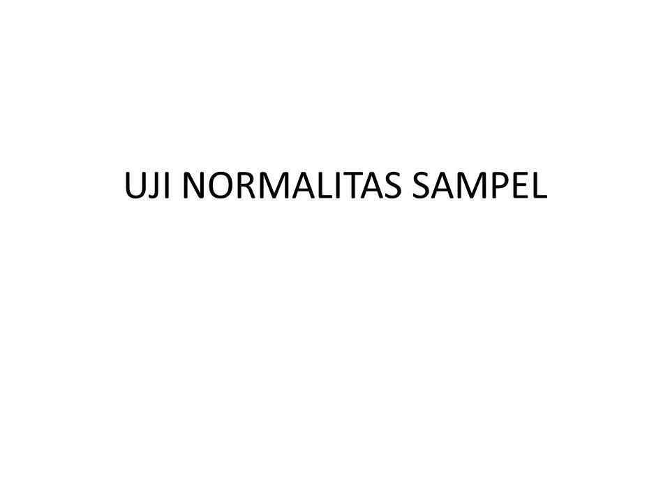 UJI NORMALITAS SAMPEL
