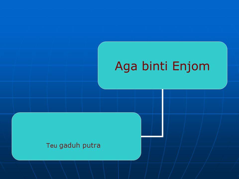Erah binti Enjom Atih Mamat Amar Mimin Dodih