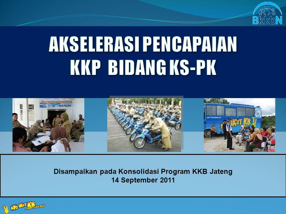 Disampaikan pada Konsolidasi Program KKB Jateng 14 September 2011