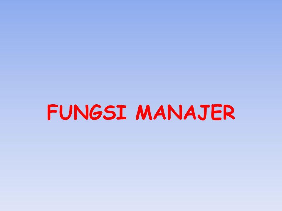 FUNGSI MANAJER