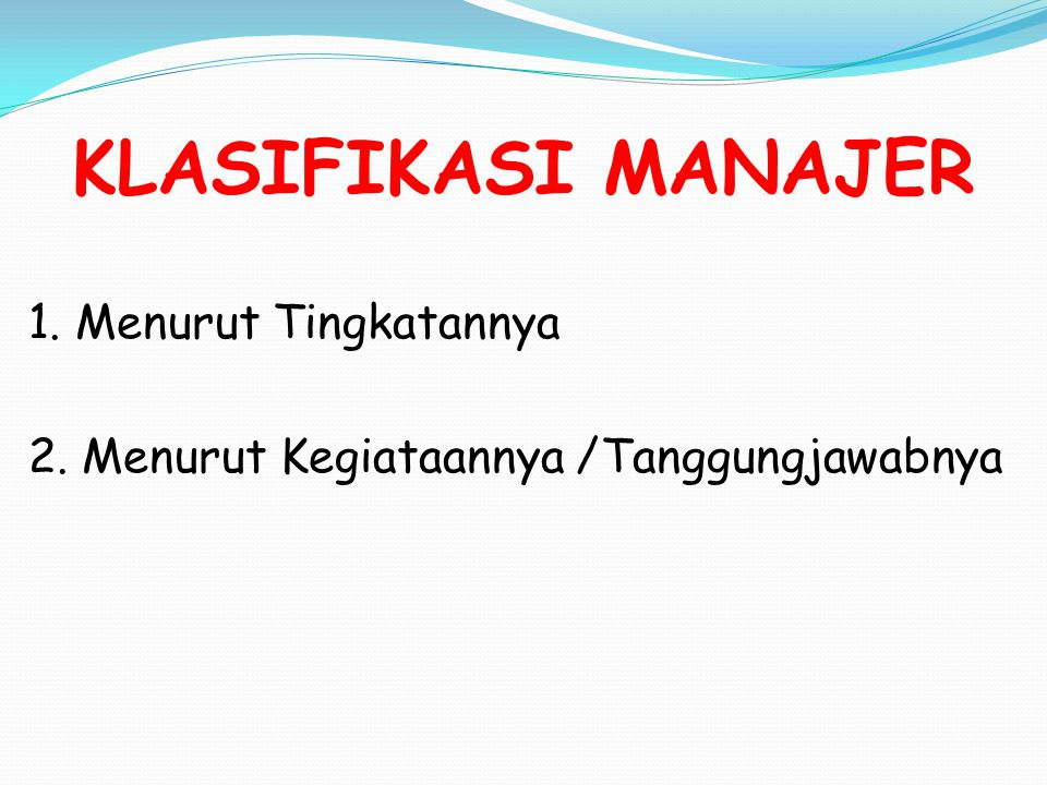 Skill Type Needed by Manager Level CONCEPTUAL SKILL HUMAN TECHNICAL MIDDLE MANAGERS FIRST LINE MANAGERS