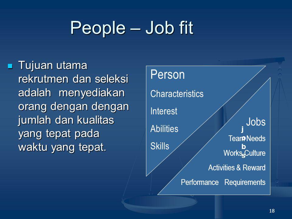 17 WHAT IS ' RECRUITMENT ' ? Rekrutmen adalah proses menemukan dan menarik kandidat/pelamar yang memiliki potensi dan/atau kompetensi untuk dipekerjak