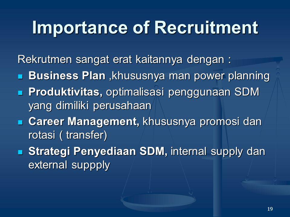 18 People – Job fit Tujuan utama rekrutmen dan seleksi adalah menyediakan orang dengan dengan jumlah dan kualitas yang tepat pada waktu yang tepat.