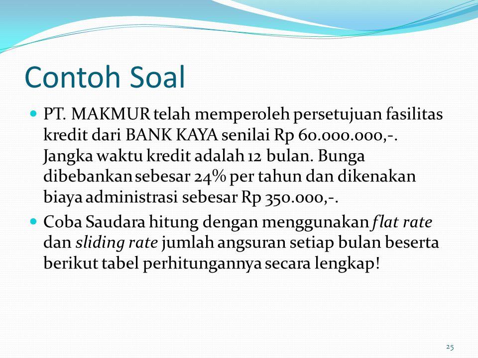 Contoh Soal PT.